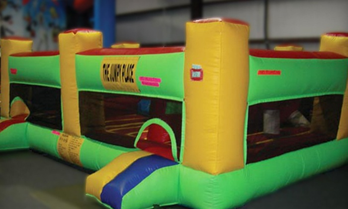 The Jumpy Place - Multiple Locations: Four or Six Bounce Outings with Snacks and Drinks at The Jumpy Place