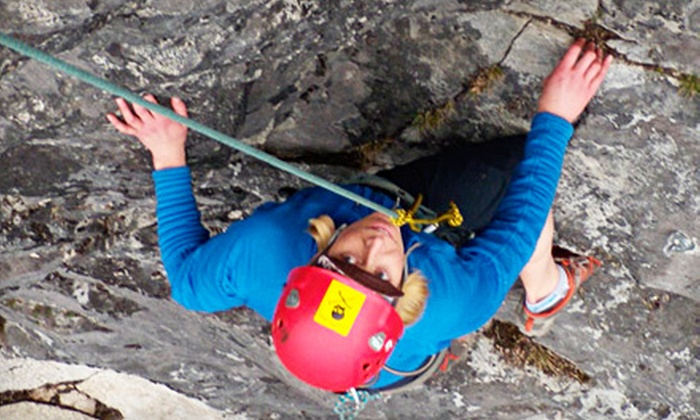 Kentucky Rock and Adventure Guides - Pine Ridge: Five-Hour Rock-Climbing Adventure for One, Two, or Four from Kentucky Rock and Adventure Guides in Pine Ridge