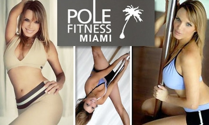 Pole Fitness Studio Miami - Multiple Locations: $45 for Five Classes at Pole Fitness Miami Plus Discounts on Future Classes and Stilettos at Luscious Boutique