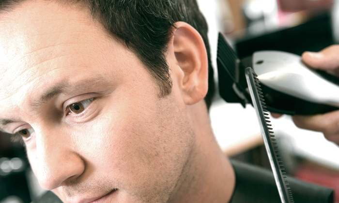 Salon Edge - Grand Center: One or Three Men's Haircuts with Shampoo and Style at Salon Edge (Up to 68% Off)