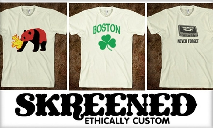 Skreened - Boston: $15 for $30 Worth of Custom-Designed Clothing at Skreened
