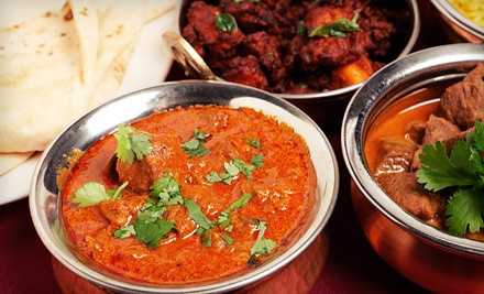 $40 Groupon for Indian Fare and Drinks (SundayThursday) - India's Kitchen in Parker