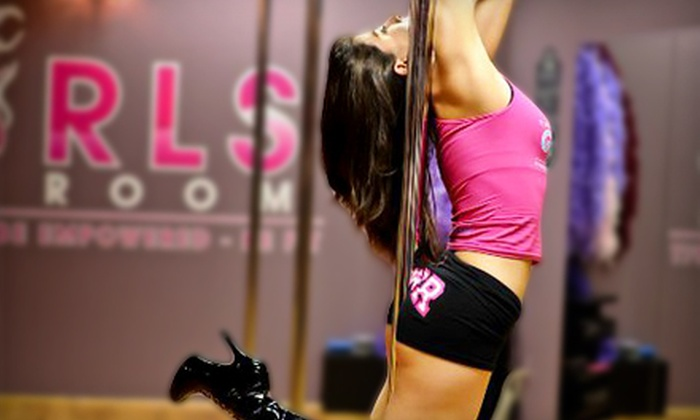 The Girls Room - Multiple Locations: Three, Six, or Nine Pole-Dancing Fitness Classes at The Girls Room