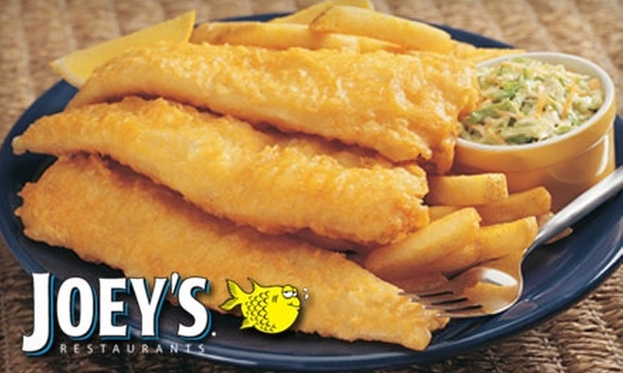 Joey's Seafood Restaurants - Multiple Locations: $8 for $16 Worth of Seafood, Ribs, Drinks, and More at Joey's Seafood Restaurants. Choose from Two Locations.