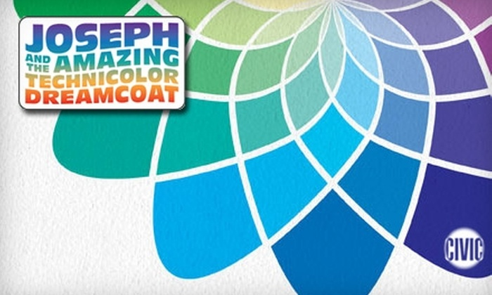 "Booth Tarkington Civic Theatre - Central Indianapolis: $17 for One Ticket to ""Joseph and the Amazing Technicolor Dreamcoat"" ($34 Value). Choose from 10 Performances."