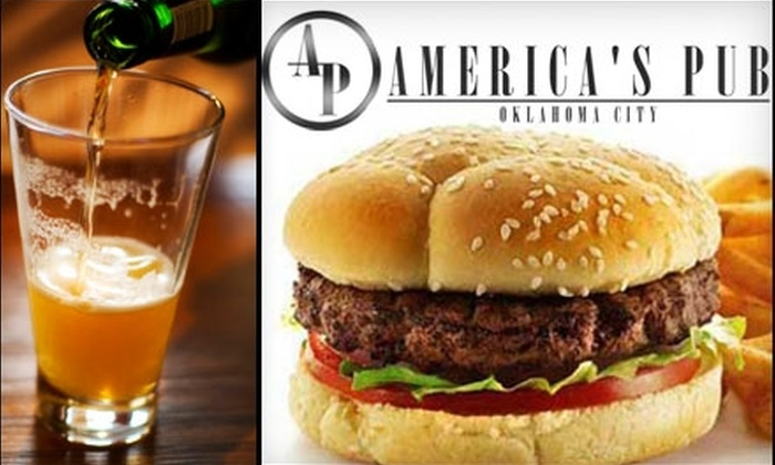 America's Pub - Downtown Oklahoma City: $10 for $20 Worth of Pub Fare and Drinks at America's Pub