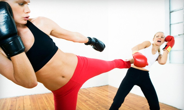 Shaku Family Martial Arts - Multiple Locations: Intro to Women's Kickboxing Class or 5 or 10 Personal Training Sessions at Shaku Family Martial Arts (Up to 75% Off)