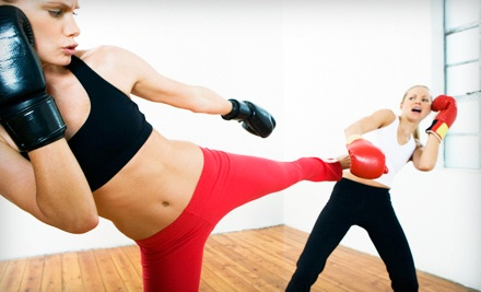 Introduction to Womens Kickboxing Class (a $139 value) With a Pair of Boxing Gloves (a $59.95 value; a $198.95 total value) - Shaku Family Martial Arts in Kingston