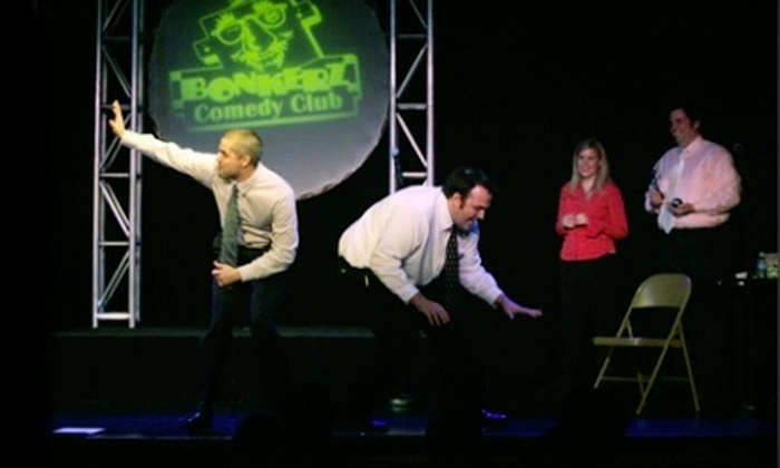 Bonkerz Comedy Club - Multiple Locations: Comedy Night for Two or Four at Bonkerz Comedy Club (Up to 63% Off)