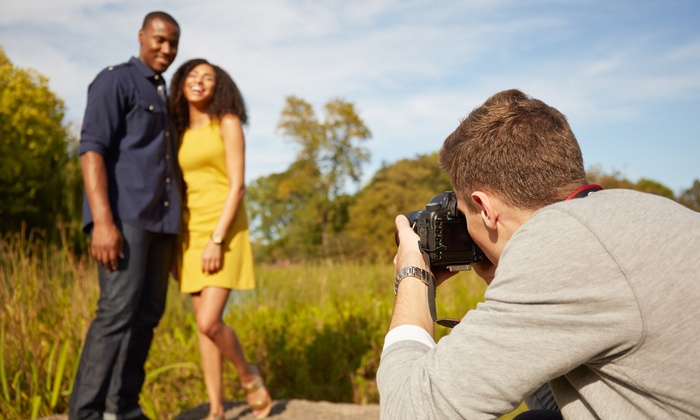 Time Captured Photography - Houston: 120-Minute Engagement Photo Shoot with Retouched Digital Images from Time Captured Photography (69% Off)