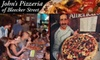 John's of Bleecker Street - West Village: $10 for $20 Worth of Brick-Oven Pizza and More at John's Pizzeria of Bleecker Street