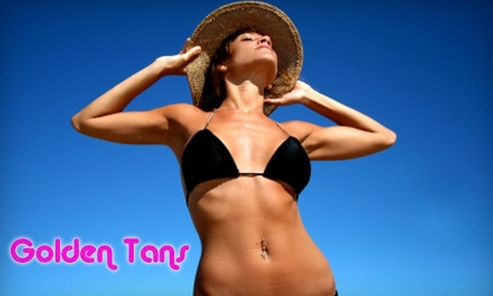Golden Tans - Smithfield: $19 for Six Stand-Up Tanning Sessions at Golden Tans in Smithfield ($39.95 Value)