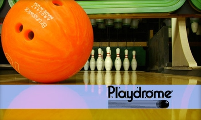Playdrome Bowling & Entertainment Centers - Multiple Locations: $29 for Two Hours of Unlimited Bowling and Shoe Rentals at Playdrome Bowling & Entertainment Centers (Up to $90 Value)
