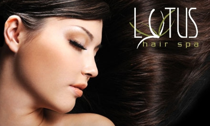 Lotus Hair Spa - Meridian: $20 for a Haircut, Brow Wax, and Scalp Massage at Lotus Hair Spa in Meridian (Up to $50 Value)