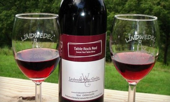 Lindwedel Wine Garden - Sunset Cove: $15 for $30 Worth of Wine and a Complimentary Wine Tasting for Two at Lindwedel Wine Garden