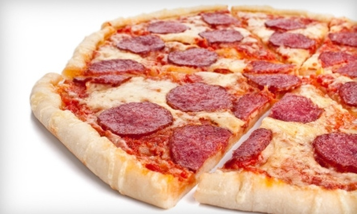Jersey's Pizza - Savannah: Pizza, Drinks, and More at Jersey's Pizza. Two Options Available.