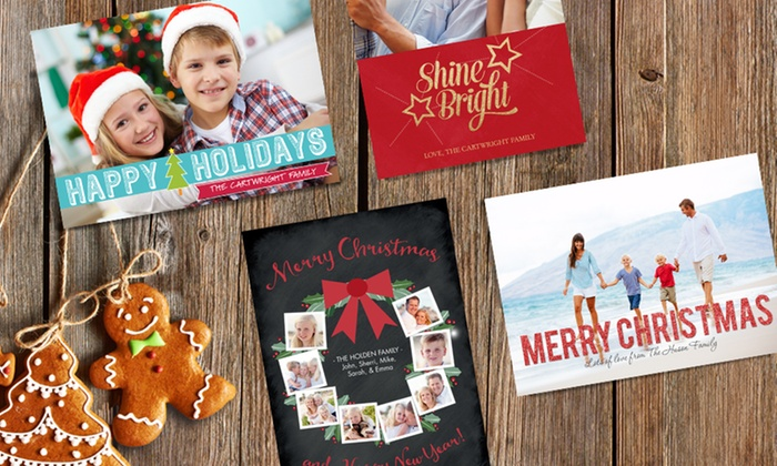 "Staples - Jackson: 25, 50, or 100 5""x7"" Custom Matte Next-Day Holiday Cards at Staples ( Up to 70% Off )"