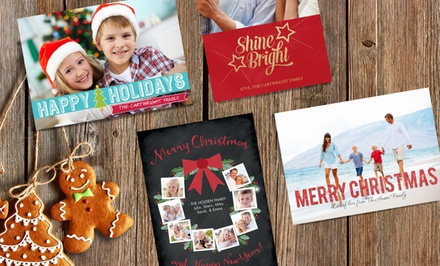 """25, 50, or 100 5""""x7"""" Custom Matte Next-Day Holiday Cards at Staples ( Up to 70% Off )"""