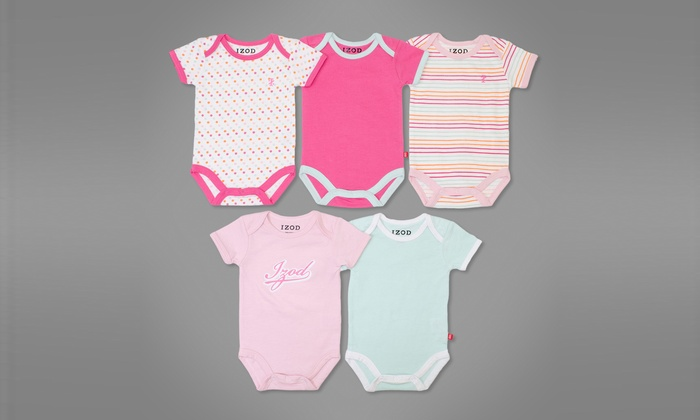 Izod Boys' and Girls' Bodysuits: Izod Boys' and Girls' Bodysuits Five-Packs. Multiple Colors Available. Free Returns.