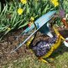 Dragon with Solar Ball Outdoor Sculpture
