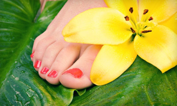 NV Salon & Spa - Downtown: Deluxe Mani-Pedi from Jamie or Gel Pedicure from Barbara at NV Salon & Spa (Up to 55% Off)
