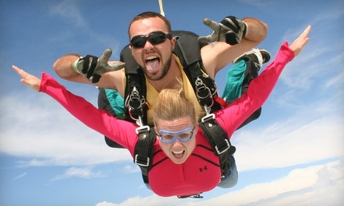 Freefall Express Skydiving - Hoberg: $129 for a Tandem Jump at Freefall Express Skydiving ($209 Value)