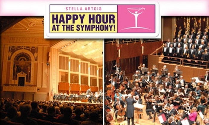 """Indianapolis Symphony Orchestra - Downtown Indianapolis: $10 for One Ticket to the Indianapolis Symphony Orchestra's """"Stella Artois Happy Hour at the Symphony"""" ($20 Value). Buy Here for January 21, 2010. See Below for Additional Dates."""