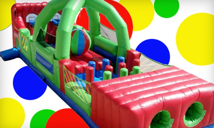 Zonkers - The Great Mall: $12 for Four Bounce-House Admissions and 12 Game Tokens at Zonkers in Olathe ($25 Value)