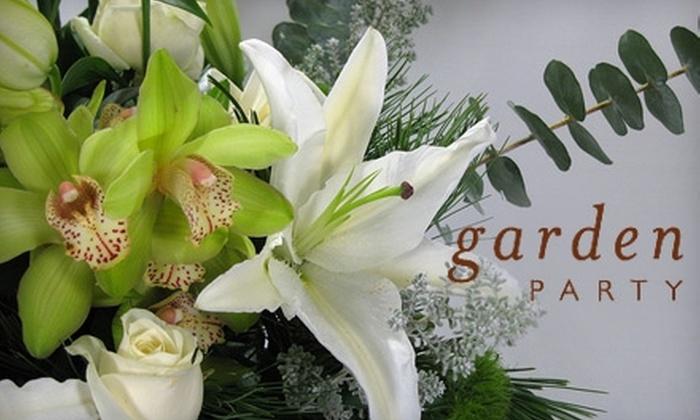 Garden Party Flowers - Kitsilano: $25 for $50 Toward Fresh Cut Flower Bouquets from Garden Party Flowers