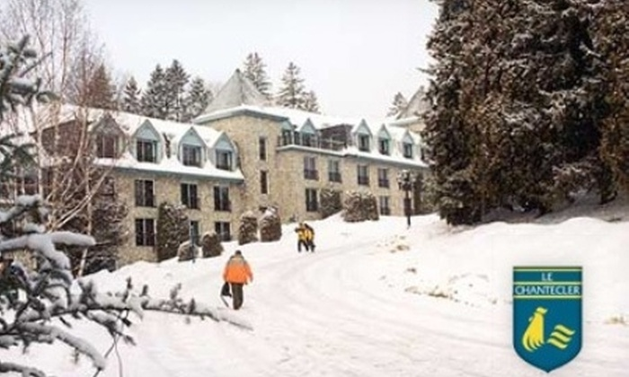 Hôtel Le Chantecler - Sainte-Adèle: One Night Suite Stay, Breakfast, and Lift Tickets for Two at Hôtel Le Chantecler in Sainte-Adèle. Choose Between Two Options.