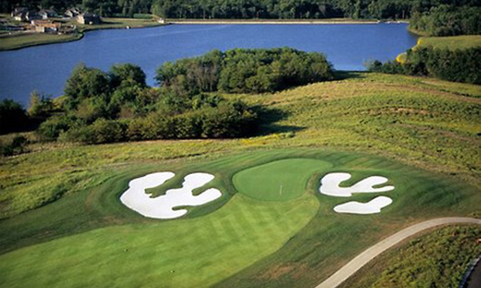 The Golf Club at Creekmoor - Raymore: $39 for Golf Outing with 18 Holes, Large Bucket of Balls, and Cart at The Golf Club at Creekmoor in Raymore (Up to $79 Value)