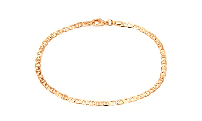 bracelet plain ball real gold bead anklet plated index seviljewelry