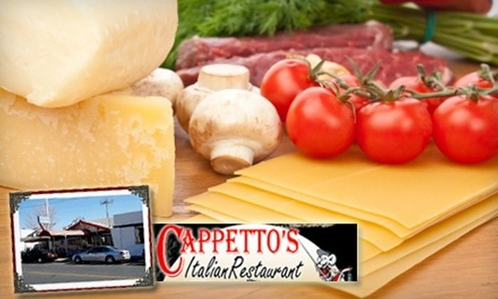 Cappetto's Italian Restaurant - Five Points West: $10 for $25 Worth of Italian Fare and Drinks at Cappetto's Italian Restaurant