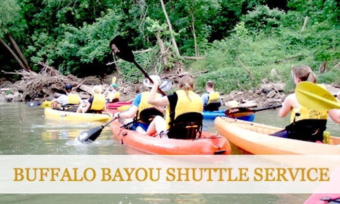 Buffalo Bayou Shuttle Service - Washington Ave./ Memorial Park: $20 for One Tandem Kayak Tour with Buffalo Bayou Shuttle Service ($40 Value)