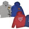 Toddler Boys' Hooded Batman and Superman Shirts (2-Pack)