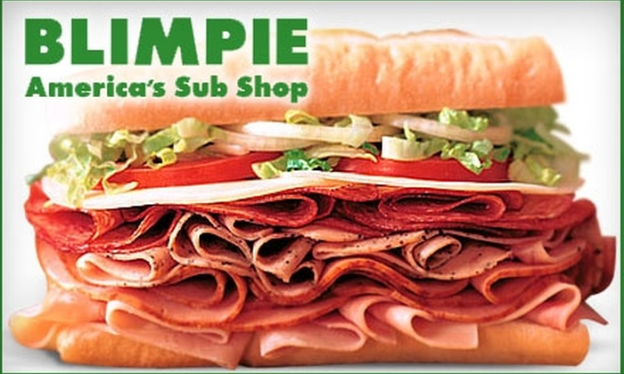 Blimpie - Multiple Locations: $4 for $8 Worth of Deli Fare at Blimpie