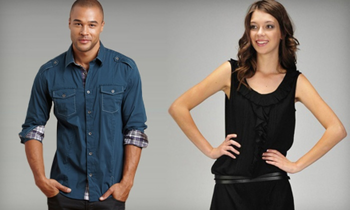 Emporium - Keystone At the Crossing,Driftwood Hills: $30 for $70 Worth of Men's and Women's Clothing at Emporium