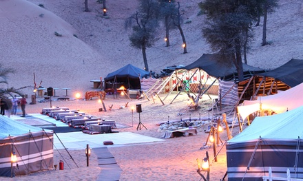 Ras al Khaimah: 1 Night Camp Stay for Two with Half Board Meal Plan and Desert Activities at Bedouin Oasis