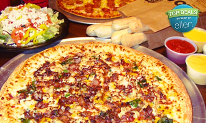 HotBox Pizza - Multiple Locations: Pizza Meal for Two or Four at HotBox Pizza (Up to 57% Off). Seven Locations Available.
