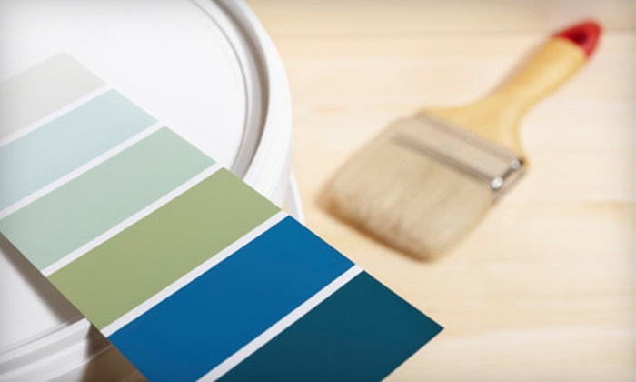 Watercolors - Downtown Santa Cruz: Interior Painting for One or Three Rooms from Watercolors (Up to 75% Off)