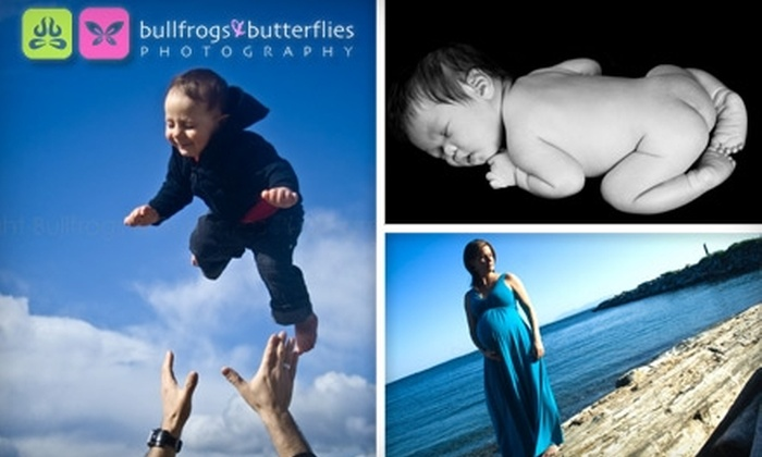 """Bullfrogs & Butterflies Photography - Whalley: $49 for Up to a One-Hour Photo Shoot, Image Disc, 8""""x10"""" Print, and Eight Wallet Photos from Bullfrogs & Butterflies Photography"""