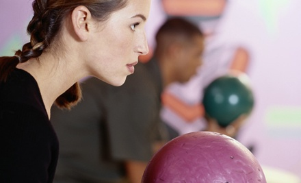 Bowling Package for 2 Including 2 Games of Bowling Each (up to a $4 value each), 2 Shoe Rentals (a $3.25 value each), and 2 Small Drinks (a $1.90 value each)   - Community Bowling Centers in
