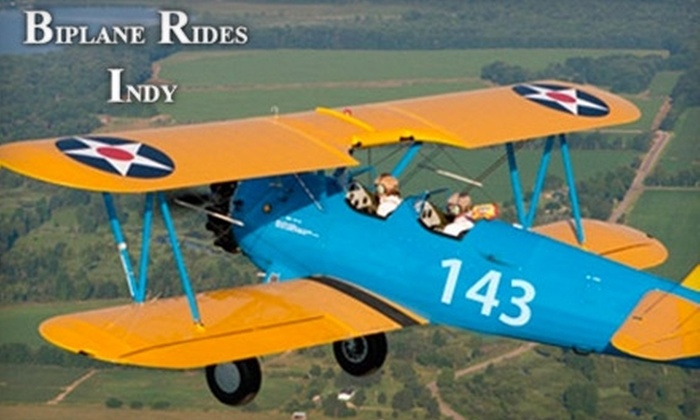 Biplane Rides Indy - Greenwood: $115 for a 15–20 Minute Flight in a 1942 Boeing Stearman Biplane with Biplane Rides Indy