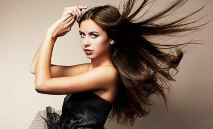 Haircut, Single-Process Color, Brazilian Blowout, or Barber Cut and Design at Eastwood Hair Designs (50% Off)