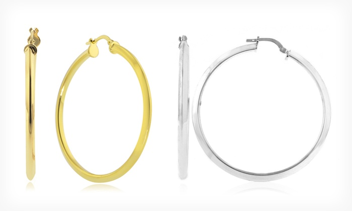 Hoop Earring Collection: Hoop Earrings (Up to 87% Off). Five Options Available. Free Returns.