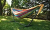 Vivere Double Hammock and Stand. Available in 4 colors.: Vivere Double Hammock and Stand. Available in 4 colors.