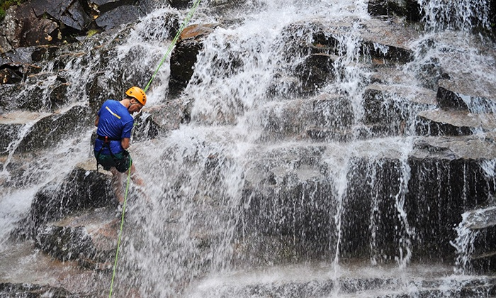 North Ridge Mountain Guides - Twin Mountain: $99 for Waterfall Rappelling from North Ridge Mountain Guides ($199 Value)