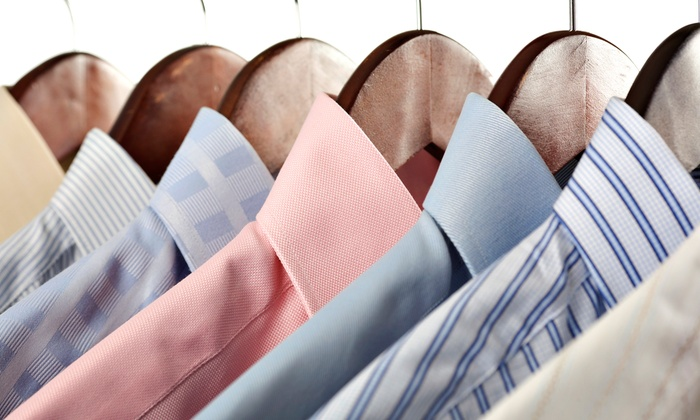 The Laundry Butlers - Multiple Locations: Dry-Cleaning Services and a Dry-Cleaning Bag from The Laundry Butlers (Up to 55% Off). Two Options Available.