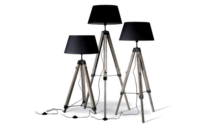 lampadaires tr pied groupon shopping. Black Bedroom Furniture Sets. Home Design Ideas