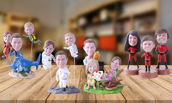 Couple, Single, or Family Customized Bobbleheads from YesBobbleheads.com
